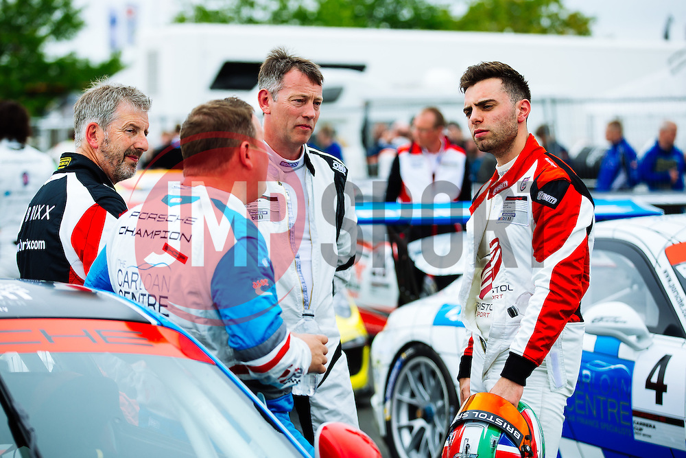 Dino Zamparelli celebrates after securing Pole Position | GT Marques | #88 Porsche 911 GT3 Cup | Porsche Carrera Cup GB | Qualifying - Mandatory byline: Rogan Thomson/JMP - 18/06/2016 - MOTORSPORT - Croft Circuit - Dalton-on-Tees, England - BTCC Meeting Day 1.
