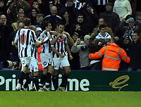 Photo: Mark Stephenson/Sportsbeat Images.<br /> West Bromwich Albion v Bristol City. Coca Cola Championship. 26/12/2007.Roman Bednar (R) celebrates his goal with team mates