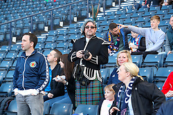 Scotland fans in the stands ahead of the International Friendly match at Hampden Park, Glasgow.