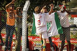 Lance da partida entre Balneário Estreito x Gladiador válida pela Copa Coca-Cola 2013 no complexo esportivo Aldo Silva, em Florianópolis. FOTO: Cristiano Estrela/Preview.com
