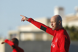 Coach Erik ten Hag of Ajax during a training session of Ajax Amsterdam at the Cascada Resort on January 08, 2018 in Lagos, Portugal