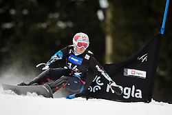 Ina Meschik (AUT) competes during Qualification Run of Women's Parallel Giant Slalom at FIS Snowboard World Cup Rogla 2016, on January 23, 2016 in Course Jasa, Rogla, Slovenia. Photo by Ziga Zupan / Sportida