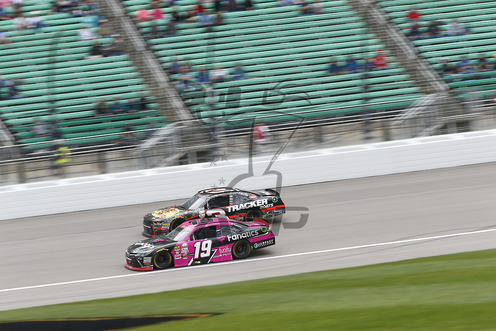October 21, 2017 - Kansas City, Kansas, USA: \{persons}n\ battles for position during the Kansas Lottery 300 at Kansas Speedway in Kansas City, Kansas.