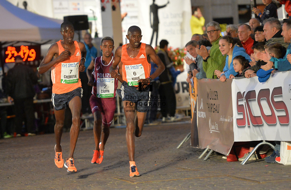 Trento Running Festival - October the 6th, 2018 -  Trento, Italy. Victory for Olympian Kiplimo - (C) Crippa<br /> Giro al Sas © DANIELEMOSNA.IT