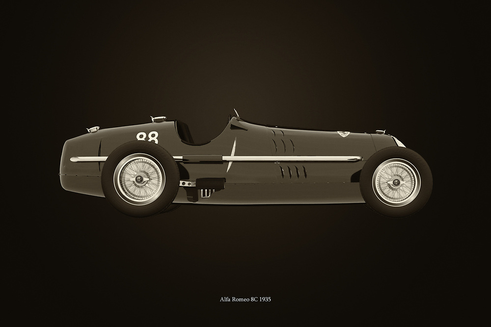Black and white version of the legendary Alfa Romeo 8C from 1935<br /> Available as download or as print on various materials such as canvas, poster, art print, on metal or covered with an acrylic to give more depth.<br /> Ideal for the car enthusiast to decorate his/her home or office. -<br /> BUY THIS PRINT AT<br /> <br /> FINE ART AMERICA<br /> ENGLISH<br /> https://janke.pixels.com/featured/3-alfa-romeo-8c-1935-jan-keteleer.html<br /> <br /> WADM / OH MY PRINTS<br /> DUTCH / FRENCH / GERMAN<br /> https://www.werkaandemuur.nl/nl/shopwerk/Alfa-Romeo-8C-1935-B-amp-W/704218/132?mediumId=1&size=75x50<br /> -