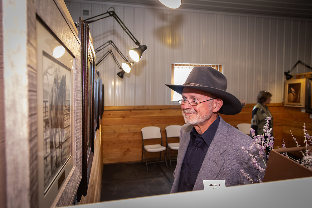 Patrons and artists enjoy the 2018 Art for the Sangres fundraiser at A Painted View Ranch, to benefit the San Isabel Land Protection Trust.