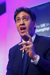 © Licensed to London News Pictures. 10/06/2016. London, UK. Former Labour leader ED MILIBAND speaks at UK in a Changing Europe conference at Queen Elizabeth II Conference Centre in London on Friday, 10 June 2016. Photo credit: Tolga Akmen/LNP