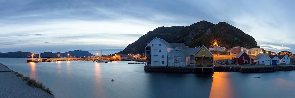 Runde Harbor at westcoast of Norway   Runde Havn i kveldsstemning.