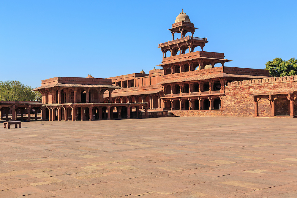 Panch Mahal is a five-story palace in Fatehpur Sikri, Uttar Pradesh, India. This structure stands close to the Zenana quarters (Harem) which supports the supposition that it used for entertainment and relaxation.