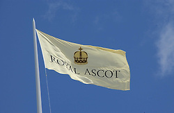 Flag at the 3rd day - Ladies Day of Roayl Ascot 2006 on 22nd June 2006.<br /><br />NON EXCLUSIVE - WORLD RIGHTS