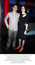 Writer WILLIAM SUTCLIFFE and writer MAGGIE O'FARRELL at a party in London on 3rd March 2004.PSE 1