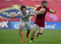 September 1, 2018 - Limerick, Ireland - Sammy Arnold of Munster and Nico Lee of Cheetahs during the Guinness PRO14 rugby match between Munster Rugby and Toyota Cheetahs at Thomond Park Stadium in Limerick, Ireland on September 1, 2018  (Credit Image: © Andrew Surma/NurPhoto/ZUMA Press)