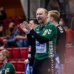 Hartmut Mayerhoffer (Trainer FRISCH AUF! Goeppingen) ; LIQUI MOLY HBL 20/21  1. Handball-Bundesliga: TVB Stuttgart - FRISCH AUF! Goeppingen am 24.04.2021 in Stuttgart (SCHARRena), Baden-Wuerttemberg, Deutschland,<br /> <br /> Foto © PIX-Sportfotos *** Foto ist honorarpflichtig! *** Auf Anfrage in hoeherer Qualitaet/Aufloesung. Belegexemplar erbeten. Veroeffentlichung ausschliesslich fuer journalistisch-publizistische Zwecke. For editorial use only.