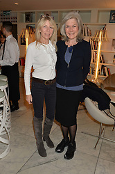 Left to right, LOUISE GUINNESS and JILL, DUCHESS OF HAMILTON at the launch of the 'Jasmine for Jaeger' fashion collection by Jasmine Guinness for fashion label Jaeger held at Fenwick's, Bond Street, London on 9th September 2015.