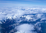 Stratocumulus clouds over mountain tops