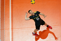 23-09-2019 NED: EC Volleyball 2019 Poland - Germany, Apeldoorn<br /> 1/4 final EC Volleyball Poland win 3-0 / Marcus Böhme #8 of Germany