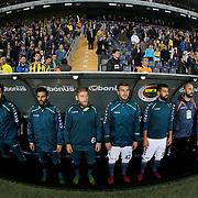 Torku Konyaspor's players during their Turkish super league soccer match Fenerbahce between Torku Konyaspor at the Sukru Saracaoglu stadium in Istanbul Turkey on Sunday 08 November 2015. Photo by Kurtulus YILMAZ/TURKPIX