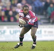 Leicester, England, UK., Welford Road Stadium,  03.01.2004, [Mandatory Credit:Peter Spurrier/Intersport Images],<br />  <br /> <br /> 03/01/2004 - Photo  Peter Spurrier<br /> 2003/04 Zurich Rugby Premiership Leicester v Gloucester<br /> Marcel Garvey