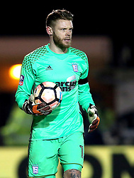 Dean Gerken of Ipswich Town - Mandatory by-line: Robbie Stephenson/JMP - 17/01/2017 - FOOTBALL - Sincil Bank Stadium - Lincoln, England - Lincoln City v Ipswich Town - Emirates FA Cup third round replay