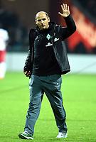 Schlussjubel Trainer Viktor Skripnik (Bremen)<br /> Fussball Bundesliga, SV Werder Bremen - VfB Stuttgart<br /> Norway only