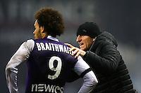 Martin Braithwaite / Thierry Uvenard - 28.02.2015 - Toulouse / Saint Etienne - 27eme journee de Ligue 1 -<br />Photo : Manuel Blondeau / Icon Sport