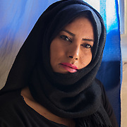"""Milan, Italy, April 8, 2019. San Vittore prison. Hassna, Moroccan, 27 years old. """"When I was 19 I was scarred with acid thrown by a Moroccan man. He wanted to be with me and I didn't wanted to be with him. I arrived in San Vittore in July 2018. When I leave here I will do a period in a community centre. I want to see a different Hassna ….""""."""