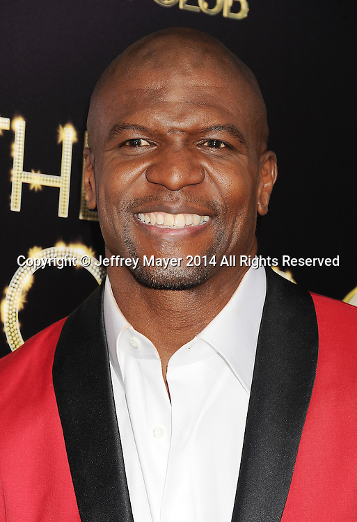 HOLLYWOOD, CA- MARCH 10: Actor Terry Crews arrives at the Los Angeles premiere of Tyler Perry's 'The Single Moms Club' at the ArcLight Cinemas Cinerama Dome on March 10, 2014 in Hollywood, California.