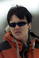 Snowboard, NM snøbrett halfpipe Geilo mars 2000. Anne-Karin Kolstad, ny generalsekretær i Norges Fri-idrettsforbund fra mars 2000.