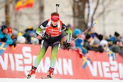 March 16, 2019 - –Stersund, Sweden - 190316 Urska Poje of Slovenia  competes in the Women's 4x6 km Relay during the IBU World Championships Biathlon on March 16, 2019 in Östersund..Photo: Johan Axelsson / BILDBYRÃ…N / Cop 245 (Credit Image: © Johan Axelsson/Bildbyran via ZUMA Press)