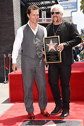 Guy Fieri is joined by Penny Ferry, Lori Fieri, Hunter Fieri, Ryder Fieri and Jim Ferry at his Hollywood Walk of Fame star ceremony on May 22, 2019 in Hollywood, CA. © Janet Gough / AFF-USA.COM. 22 May 2019 Pictured: Guy Fieri and Matthew McConaughey. Photo credit: Janet Gough / AFF-USA.COM / MEGA TheMegaAgency.com +1 888 505 6342