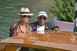 75th Venice Film Festival, Celebrity Sightings. Emma Stone, Spike Lee,. 30 Aug 2018 Pictured: Spike Lee, Tonya Lewis Lee. Photo credit: KILPIN / MEGA TheMegaAgency.com +1 888 505 6342