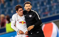 24.08.2016, Red Bull Arena, Salzburg, AUT, UEFA CL, FC Red Bull Salzburg vs Dinamo Zagreb, Play off, Rueckspiel, im Bild Jonatan Soriano (FC Red Bull Salzburg), Co Trainer Ruben Martinez (FC Red Bull Salzburg) // during the UEFA Championsleague Play off 2nd Leg Match between FC Red Bull Salzburg and Dinamo Zagreb at the Red Bull Arena in Salzburg, Austria on 2016/08/24. EXPA Pictures © 2016, PhotoCredit: EXPA/ JFK