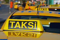 Turquie, taxi a Istanbul // Turkey, Istanbul taxi