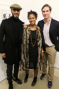 New York, NY-Jan. 11: (L-R) Producer/Recording Artist Swizz Beatz, Chef Leslie Parks and Peter Kundhardt, Jr. Executive Director, The Gordon Parks Foundation attend the Gordon Parks: I AM YOU Opening Reception presented by the Gordon Parks Foundation  held at the Jack Shanmain Gallery on January 11, 2018 in New York City.  (Photo by Terrence Jennings/terrencejennings.com)