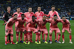 December 8, 2018 - Barcelona, Catalonia, Spain - the FC Barcelona team during the match between RCD Espanyol and FC Barcelona, corresponding to the week 15 of the spanish league, played at the RCD Espanyol Stadium on 08th December 2018 in Barcelona, Spain. Photo: Joan Valls/Urbanandsport /NurPhoto. (Credit Image: © Joan Valls/NurPhoto via ZUMA Press)