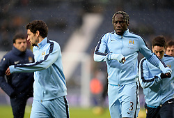 Manchester City's Bacary Sagna warms up. - Photo mandatory by-line: Alex James/JMP - Mobile: 07966 386802 - 26/12/2014 - SPORT - football - West Bromwich - The Hawthorns - West Bromwich v Manchester City - Barclays Premier League