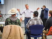 "24 JANUARY 2020 - POLK CITY, IOWA: JOE WALSH, talks about climate change and Donald Trump's presidency during a Walsh campaign event in Polk City, northwest of Des Moines. Walsh, a conservative radio personality, former Republican congressman, and one time supporter of Donald Trump is now challenging Trump for the Republican nomination for the US Presidency. During his appearance in Polk City, Walsh said Trump is unfit to be the President because he is a ""cheater,"" a climate change denier, and a ""threat"" to the United States.     PHOTO BY JACK KURTZ"