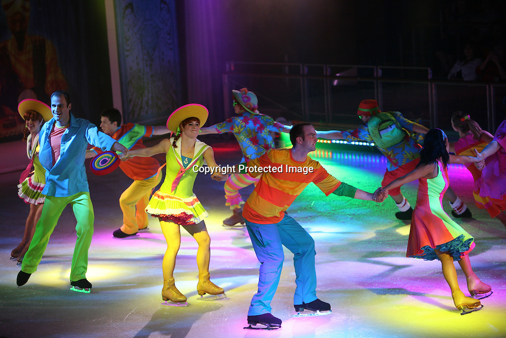 Launch of Royal Caribbean International's newest ship Allure of the Seas..Ice Games ice show in Studio B.