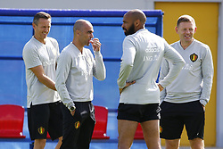 July 8, 2018 - Moscou, Russie - Thierry Henry ass. coach of Belgian Team and Roberto Martinez head coach of Belgian Team (Credit Image: © Panoramic via ZUMA Press)