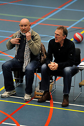 18-02-2012 VOLLEYBAL: TAUW GEMINI S - VOCASA: HILVERSUM<br /> B League heren, VoCASA wint vrij eenvoudig in Hilversum 22-25, 20-25, 22-25 / Marinus Wouterse, Ben Abeling<br /> ©2012-FotoHoogendoorn.nl