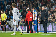 Mourinho looking Coentrao after his goal