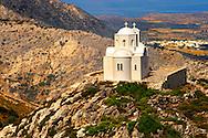 Hilltop Church od Ag Marina, Naxos Island Greek Cyclades Island