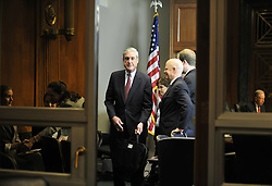 May 17, 2017 - FILE PHOTO - The Justice Department on Wednesday named ROBERT MUELLER as special counsel to oversee the department's investigation into Russian meddling in the 2016 election. Mueller III served as FBI director from 2001 through 2013. Pictured: WASHINGTON, July 29, 2010  U.S. Federal Bureau of Investigation (FBI) Director Robert Mueller (Front) attends a hearing on oversight of the FBI before the Senate Judiciary Committee on the Capitol Hill in Washington, capital of the United States, on July 28, 2010. (Credit Image: © Xinhua/ZUMApress.com)