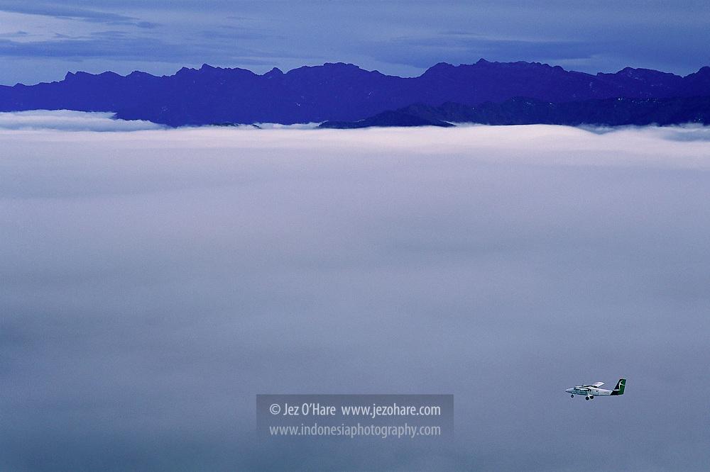 Air Regional Twin Otter near Sinak & Ilaga, Kabupaten Puncak Jaya, Papua, Indonesia.