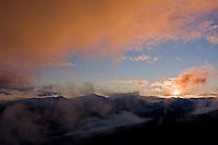 Sunset clouds above Mount Pol'skà Tomanovà (1977 m asl) in the Western Tatras, Slovakia. June 2009. Mission: Ticha