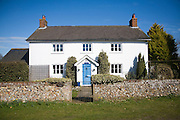 Detached village house at Blaxhall, Suffolk, England