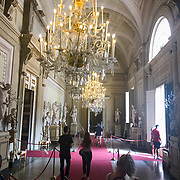 The Pitti Palace (Palazzo Pitti) is the former home of the Medici family that ruled Florence until 1919.