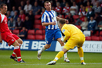 Nick Chadwick. Kidderminster Harriers FC 1-1 Stockport County. Blue Square Bet Premier. 23.8.11