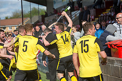 Manager Gary Jardine. Edinburgh City became the first club to be promoted to Scottish League Two. East Stirling 0 v 1 Edinburgh City, League play-off game.