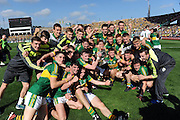 The Kerry Minor team celebrate after winning the 2014 All-Ireland Football Final against Donegal in Croke Park 2014.<br /> Photo: Don MacMonagle<br /> <br /> <br /> Photo: Don MacMonagle <br /> e: info@macmonagle.com